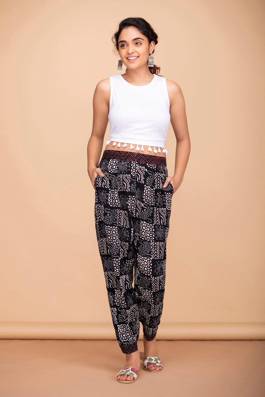 Abstract Baggy Pants