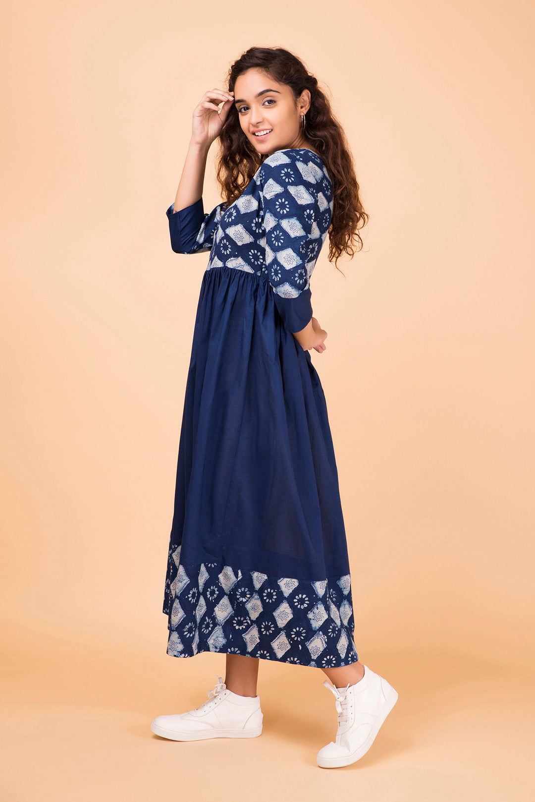 Indigo Colorblock Maxi Dress