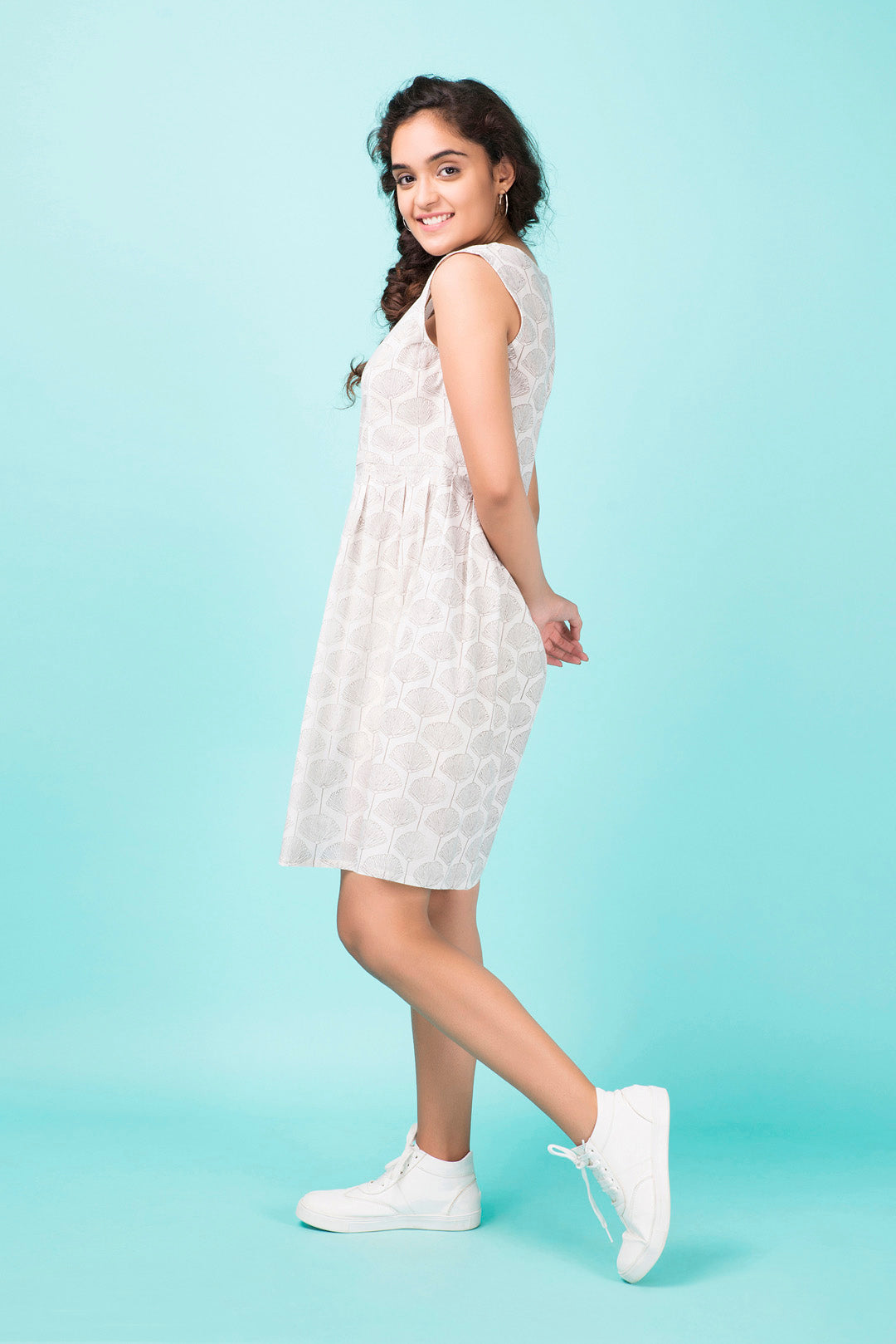 Mandarin Bloom Ivory Dress