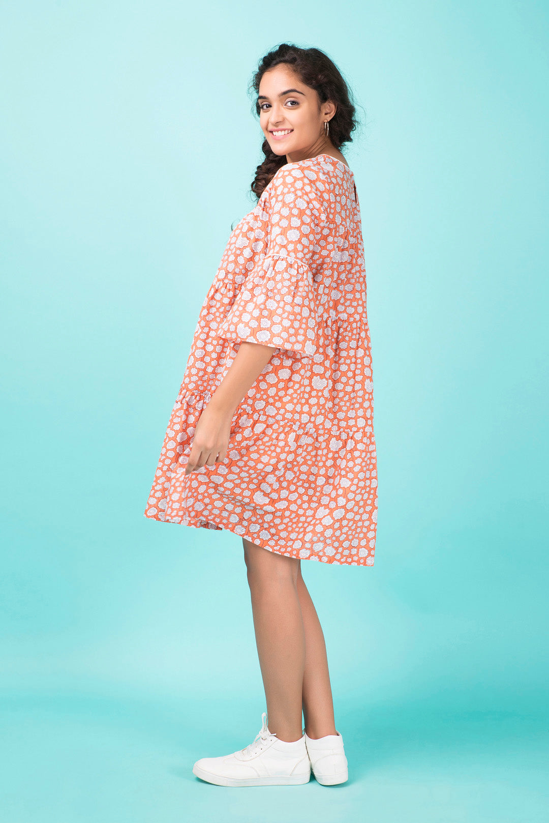 Peach Tiered Dress