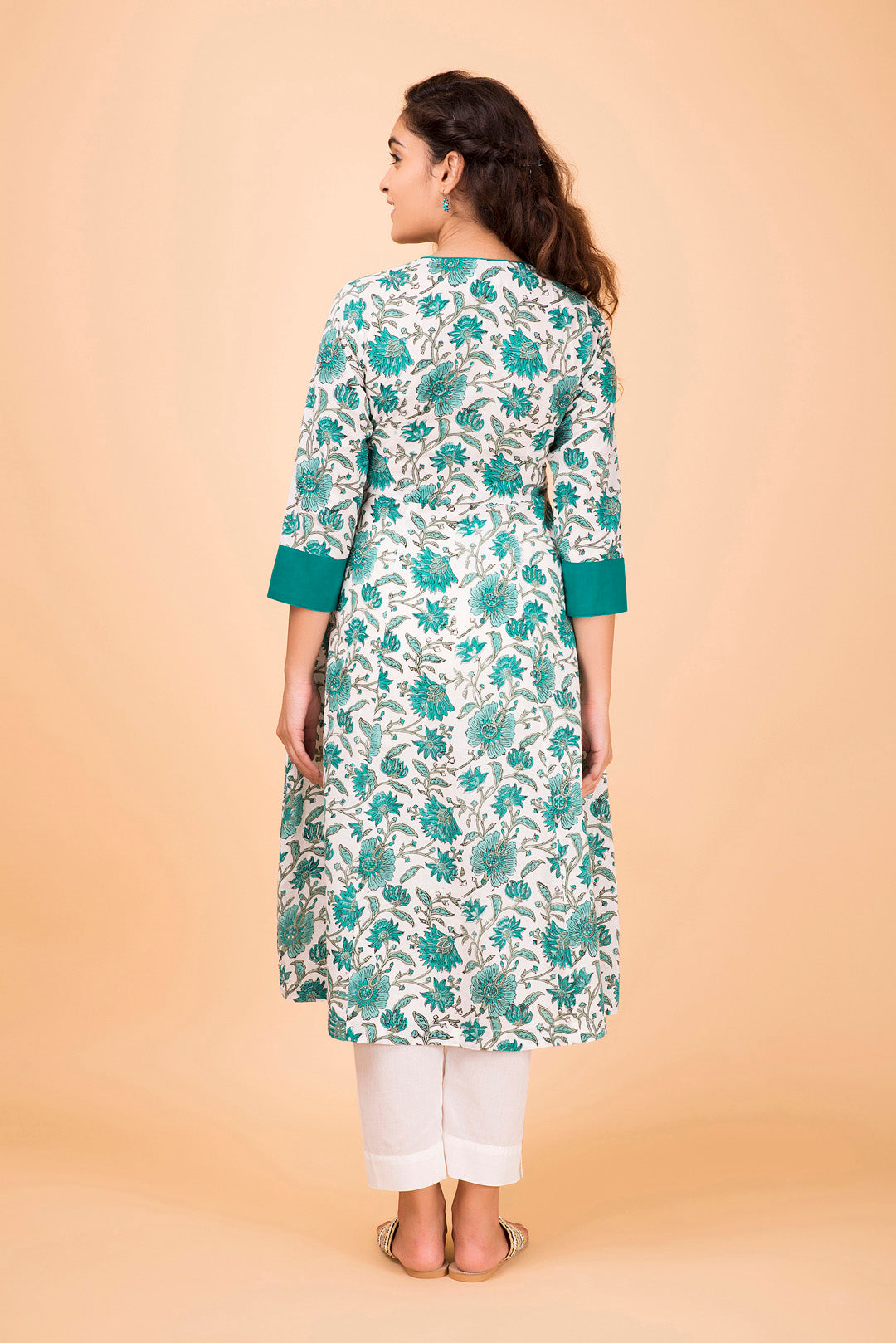 Emerald Flower Wrap Kurta