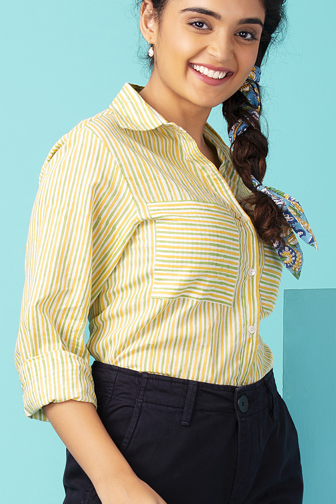 Banana Striped Pocket Shirt