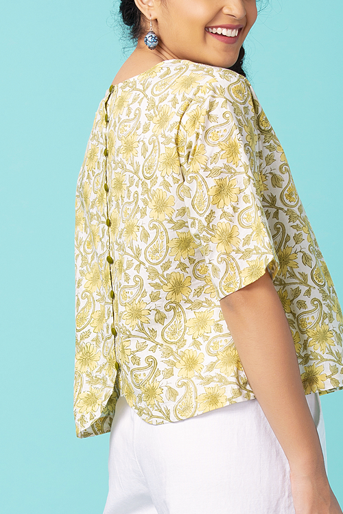 Daffodil Back Crop Top