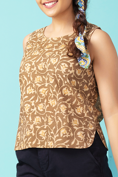 Sand Bellflower Crop Top