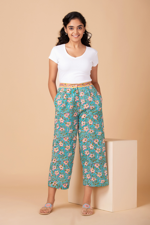 Wildflower Turq Culottes