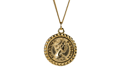 Around the world coin necklace