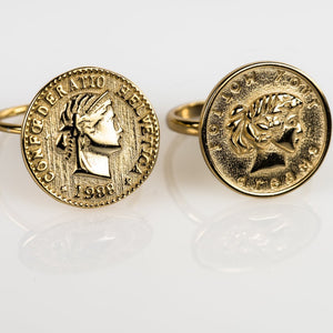 coin ring gold, follow your dreams ring, Swiss coin ring