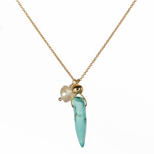 Bombom Heat Turquoise Spike Necklace