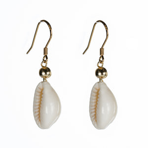 Bombom Heat Cowrie Shell Earrings