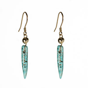 Bombom Heat Turquoise spike earrings