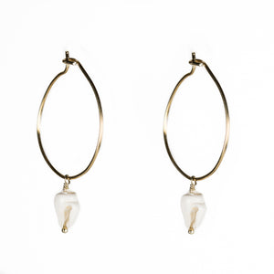 Trumpet Shell Hoop Earrings