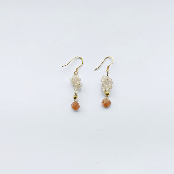 Bombom Fly Thermal Earrings in Sand Stone