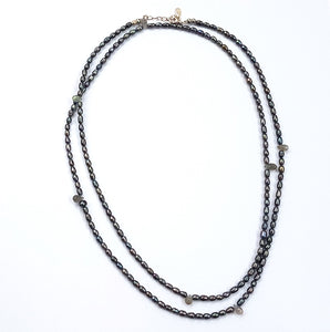 POP ROCK BLACK DROP NECKLACE