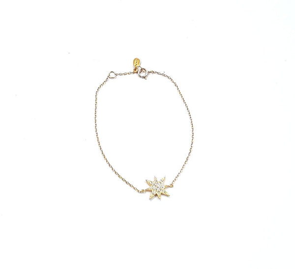 Gold shooting star bracelet