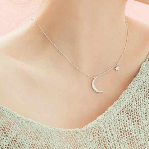 Sugar Moon and Star Necklace