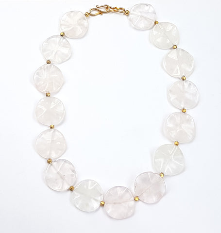 Pop Rock Necklace Rose Quartz