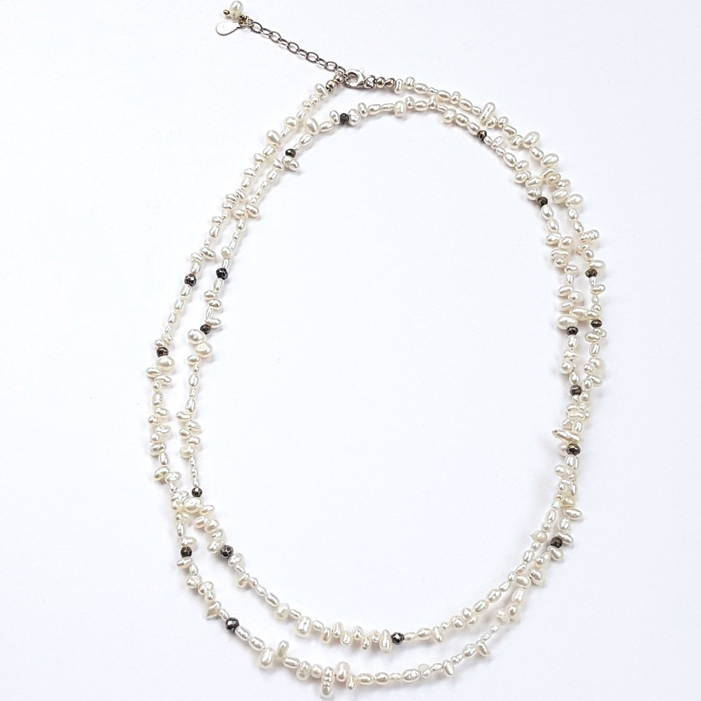 rice pearl necklace long