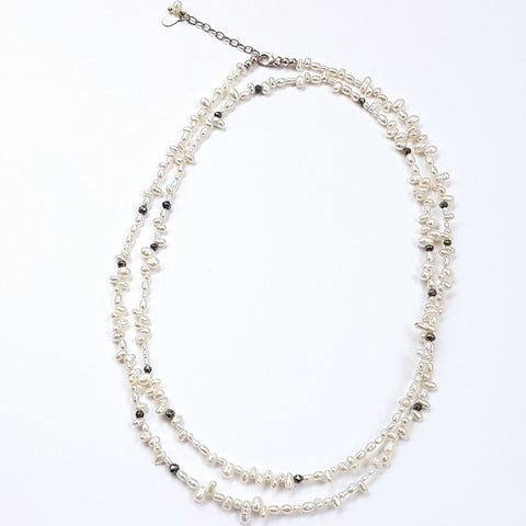 MERINGUE SIMPLE/DOUBLE WHITE NECKLACE