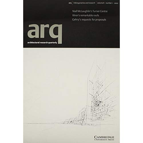 arq: Architectural Research Quarterly: Volume 6, Part 1: v. 6