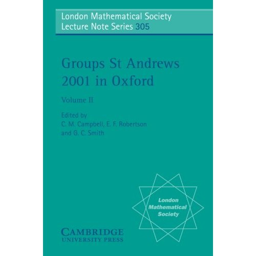 Groups St Andrews 2001 in Oxford