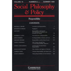 Responsibility v16 p2 (Social Philosophy and Policy)