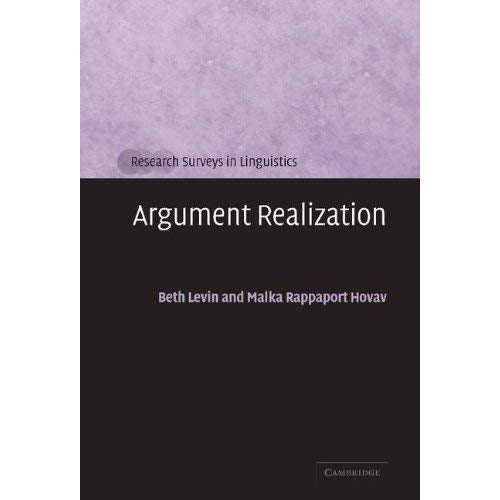 Argument Realization (Research Surveys in Linguistics)