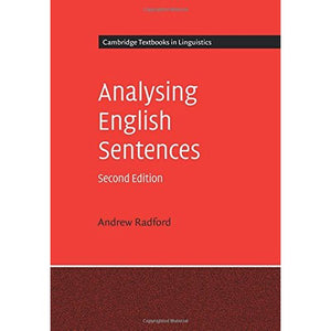 Analysing English Sentences (Cambridge Textbooks in Linguistics)