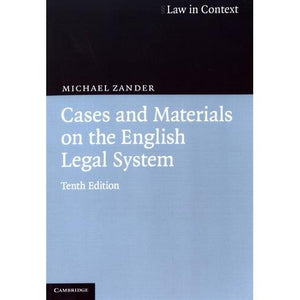 Cases and Materials on the English Legal System (Law in Context)
