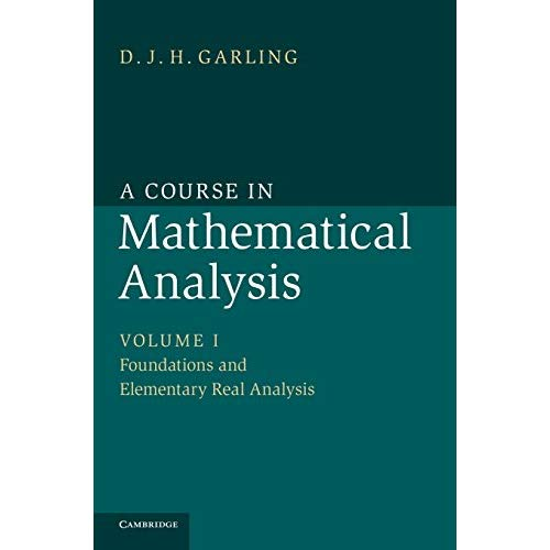 A Course in Mathematical Analysis: Volume 1