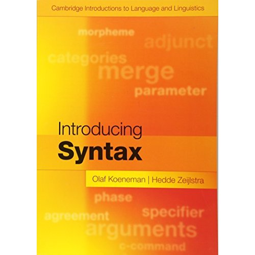 Introducing Syntax (Cambridge Introductions to Language and Linguistics)