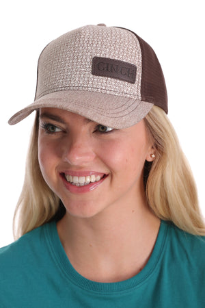 CINCH Women's Brown Mesh Back Trucker Cap