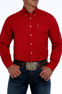 CINCH Men's Modern Fit Red Button - Down Shirt