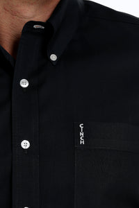 CINCH Men's Modern Fit Black Button - Down Shirt