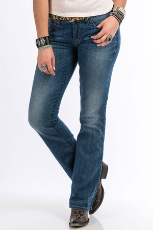 CRUEL GIRL Women's Abby Jean - Medium Stonewash