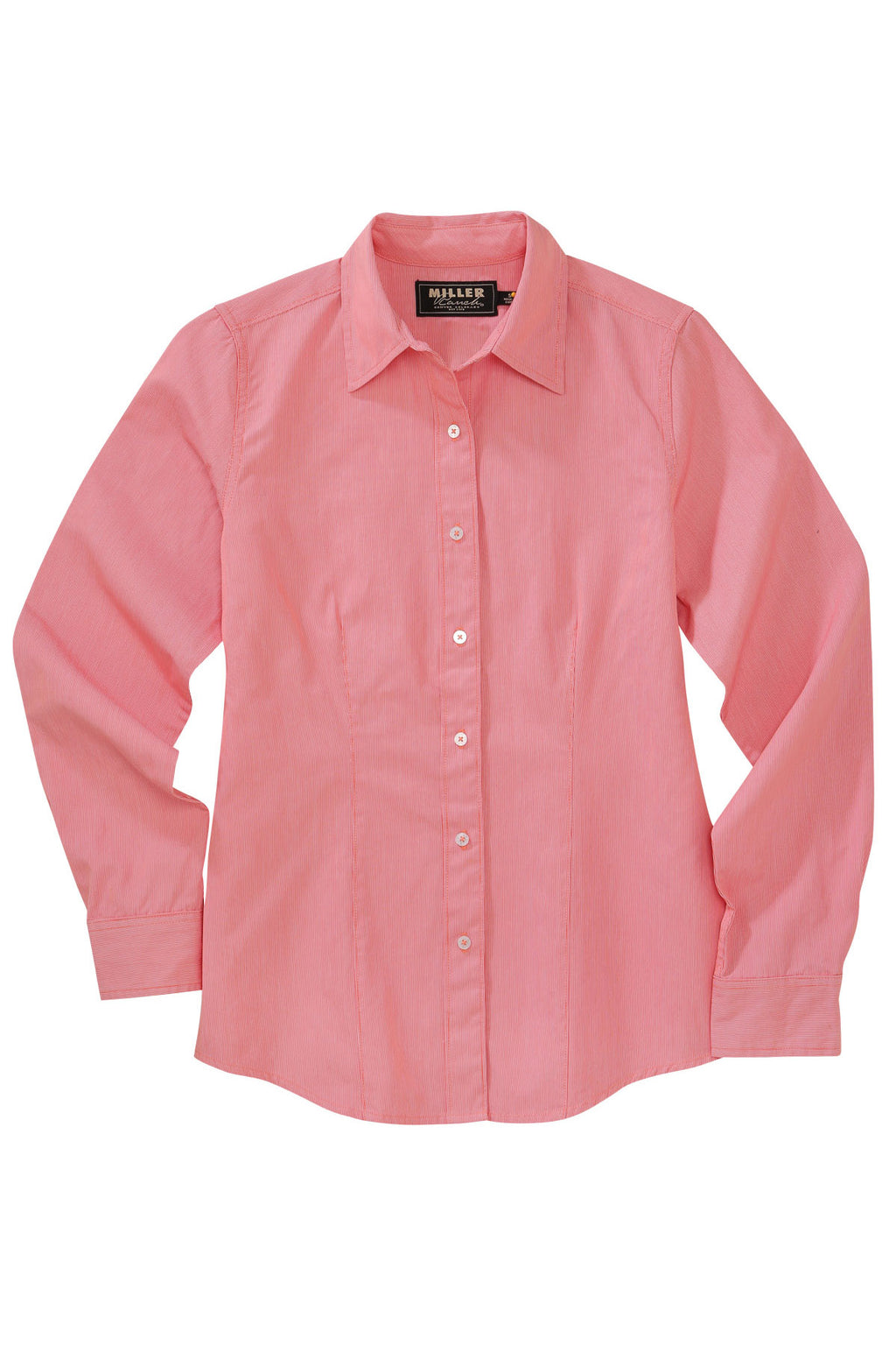 MILLER RANCH Women's Coral Pinpoint Button-Down Western Shirt