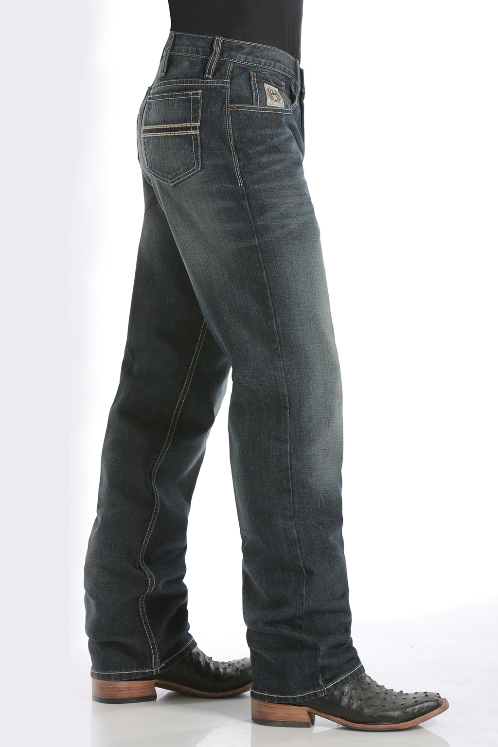 CINCH Men's Relaxed Fit White Label Dark Stonewash Jeans