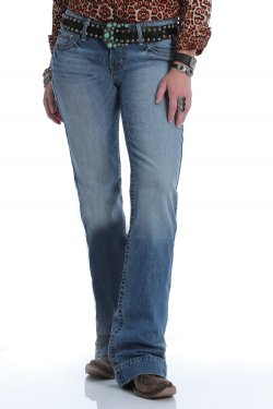 WOMEN'S JAYLEY TROUSER JEAN - LIGHT STONEWASH