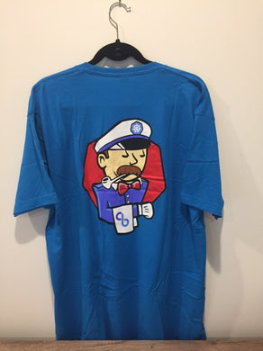 Captain Kubernetes T-shirt with Blue Tote bag
