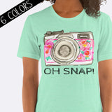 Oh Snap Camera Photography Shirt