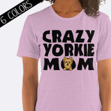 Crazy Yorkie Mom Shirt