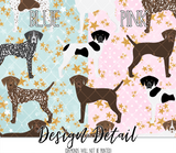GSP German Shorthair Pointer Dog Breed Leggings