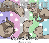 Kawaii Ferret Leggings