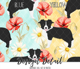Floral Border Collie Leggings