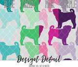 Pug Silhouette Dog Breed Leggings