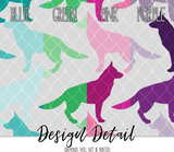 German Shepherd Silhouette Leggings