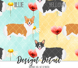 Floral Corgi Leggings