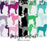 Doodle Silhouette Dog Breed Leggings