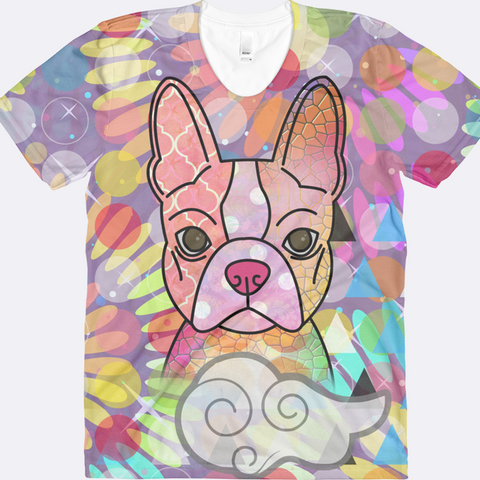 Women's Colorful Boston Terrier Shirt