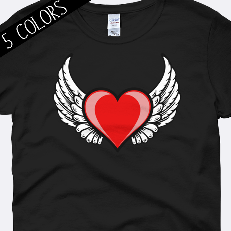 ad6a11c82e10a Valentine Heart with Wings Shirt – Amora Lux Designs