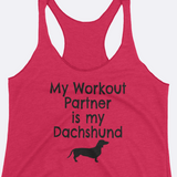 My Dachshund is my Workout Partner Tank Top